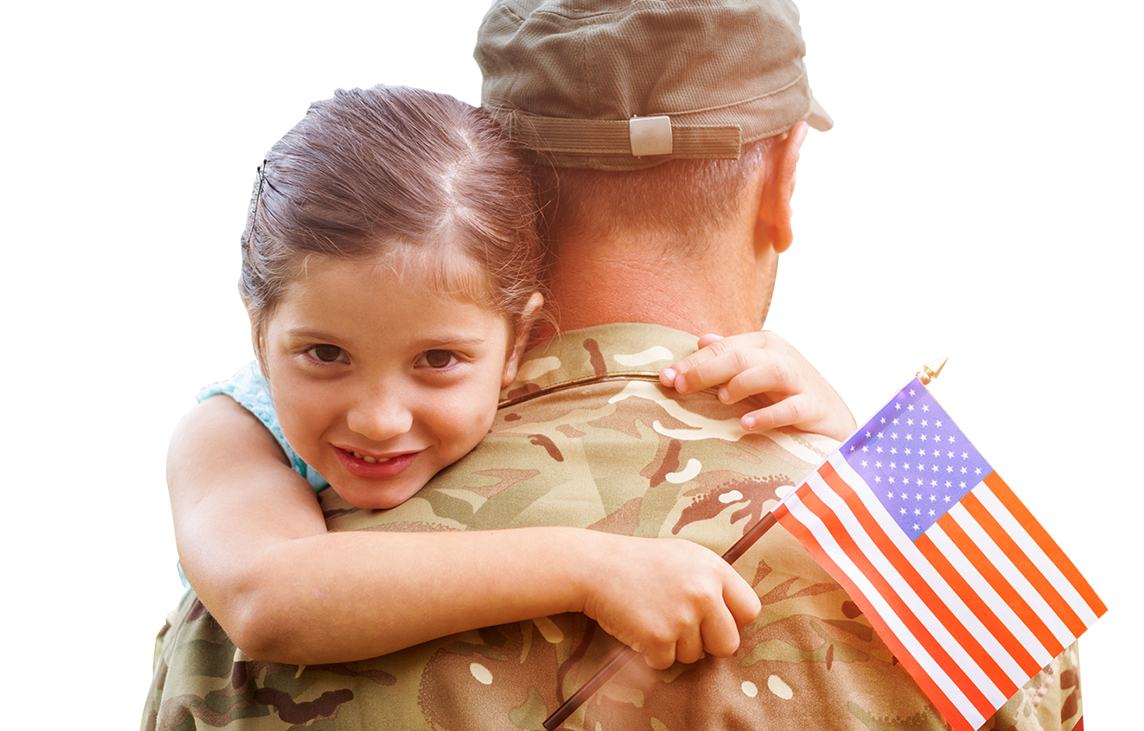 Girl with Solider Father
